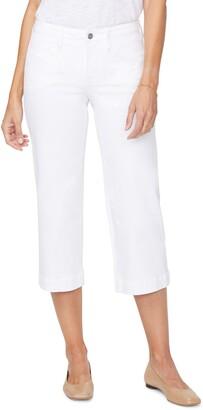 NYDJ Utility High Waist Wide Leg Capri Jeans