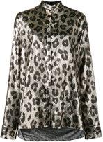 Haider Ackermann metallic leopard print blouse - women - Silk/Polyester/Spandex/Elastane - 36