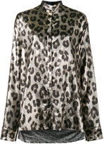 Haider Ackermann metallic leopard print blouse - women - Silk/Polyester/Spandex/Elastane - 38