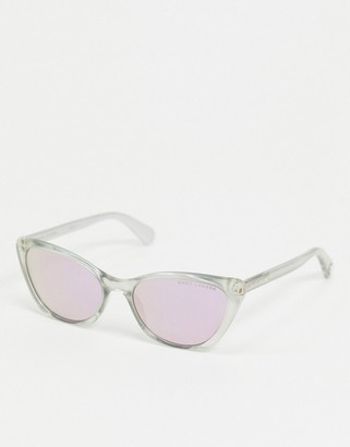 Marc Jacobs cat eye sunglasses with pink lens in clear