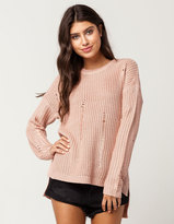 WHITE FAWN Destructed Womens Sweater