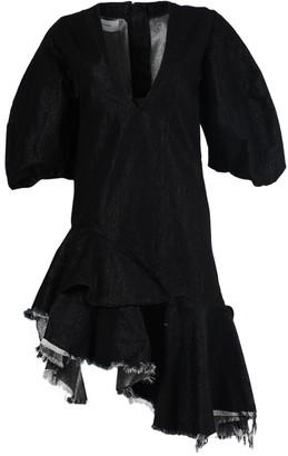 Marques Almeida Asymmetric Hemline Denim Dress
