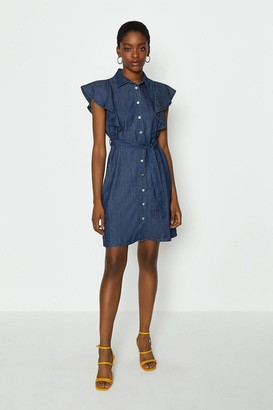 Coast Frill Sleeve Shirt Dress
