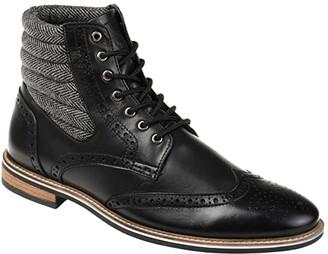 Thomas & Vine Apollo Wing Tip Boot (Black) Men's Shoes