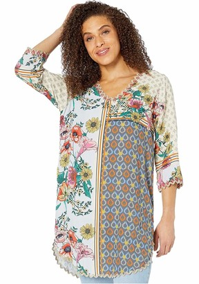 Johnny Was Women's Long Sleeve Printed Viscose Blouse