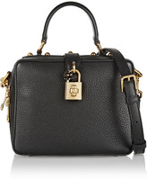 Dolce & Gabbana Rosaria Mini Textured-leather Shoulder Bag - Black