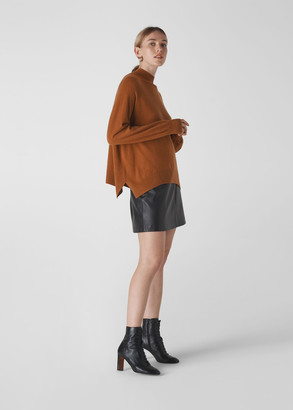 Funnel Neck Cashmere Knit
