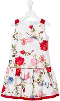MonnaLisa floral print dress - kids - Cotton - 4 yrs