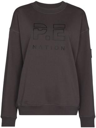 P.E Nation Logo Print Cotton Sweatshirt
