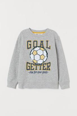 H&M Sequined sweatshirt
