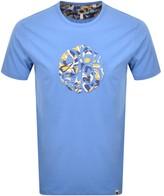 Pretty Green Applique Paisley Logo T Shirt Blue