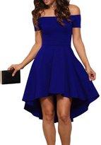 Maxwell Women's Retro 50s Off Shoulder Mini Evening Dress Vintage Skater Dress