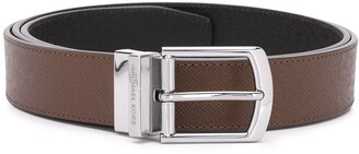 Michael Kors Collection Engraved Logo Belt