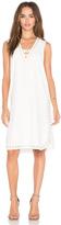 Derek Lam 10 Crosby Grommet Embroidery Lace Up Tank Dress