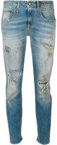 R 13 distressed denim jeans - women - Cotton/Spandex/Elastane - 24