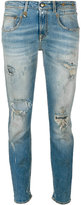 R 13 distressed denim jeans