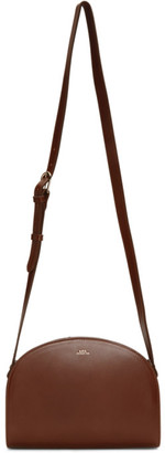 A.P.C. Brown Demi-Lune Bag