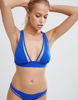 Asos Mix and Match Mesh Insert Deep Triangle Bikini Top
