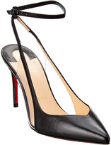 Christian Louboutin Optichoc 85 Leather & Pvc Pump