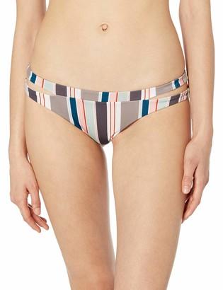 RVCA womens Off Shore Cheeky Bikini Bottom