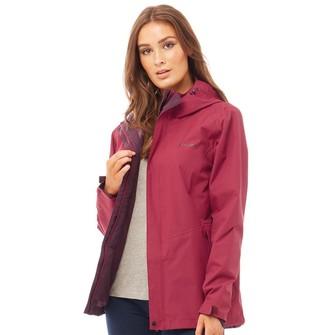 Berghaus Womens Elara Hydroshell Waterproof Shell Jacket Dark Red/Red