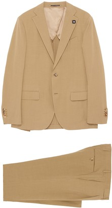 Lardini Notch lapel bamboo cotton blend suit