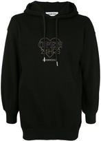 Ground Zero rhinestone logo hoodie