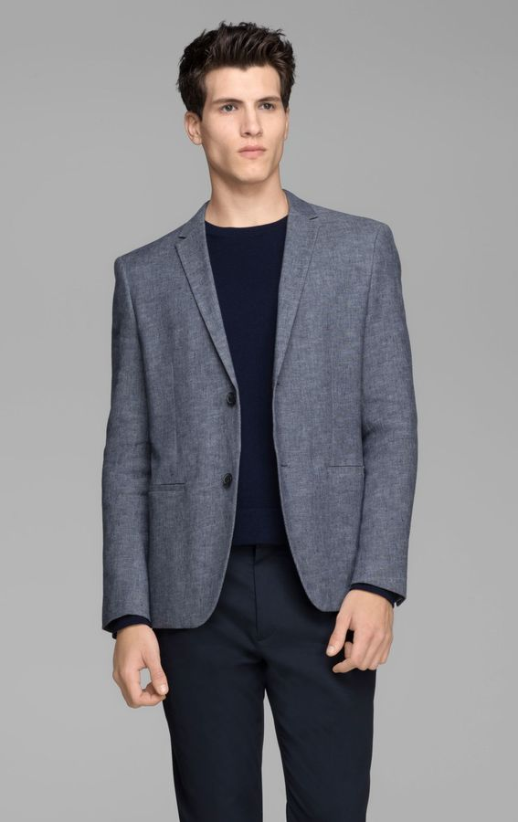 Theory Rodolf W HL Jacket in Viejo Linen Blend