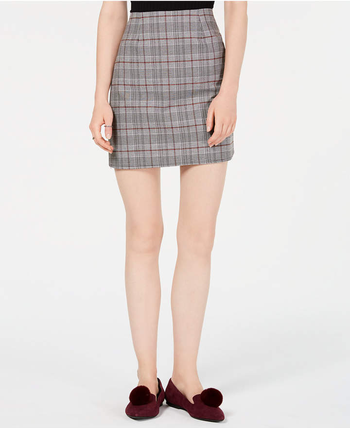 Tinseltown T.D.C. Topson Plaid Mini Skirt