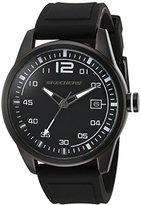 Skechers Men's Quartz Metal and Silicone Casual Watch, Color:Black (Model: SR5075)