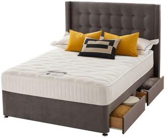Silentnight Isla Velvet 1000 MemoryDivan Bed with Headboard andStorage Options