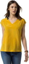 Tommy Hilfiger Silk V-Neck Top