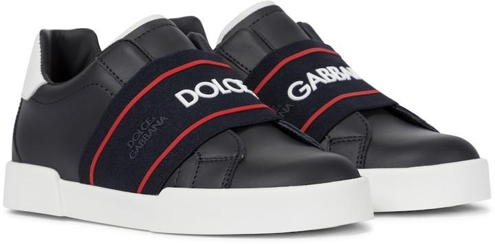 Dolce & Gabbana Kids Portofino leather sneakers