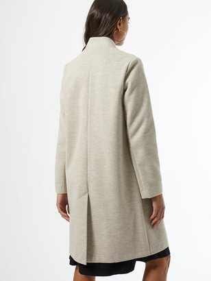 Dorothy Perkins CollarlessHerringbone Coat - Grey