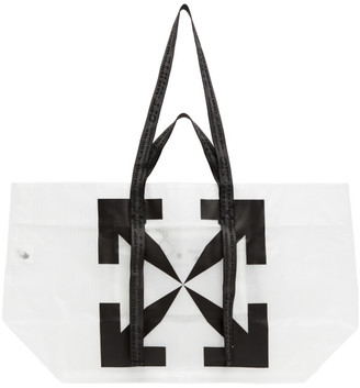 Off-White White PVC Arrows Tote