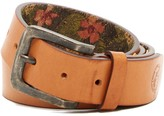 Tommy Bahama Hibiscus Lined Leather Belt