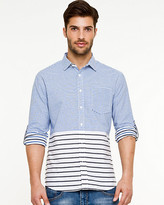 Le Château Stripe Roll-Up Sleeve Shirt