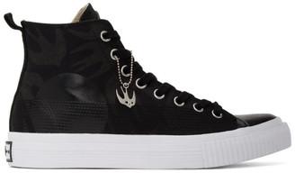 McQ Black Plimsoll High Sneakers