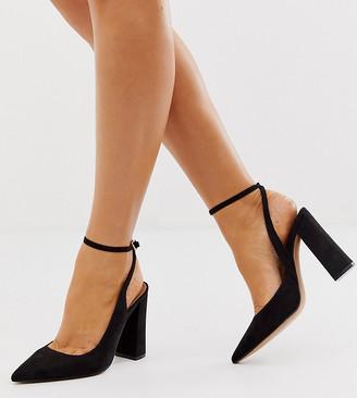 ASOS DESIGN Wide Fit Pace high block heels in black