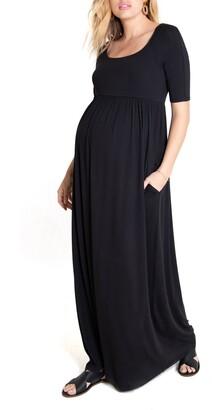 Ingrid & Isabel Elbow Sleeve Maternity Maxi Dress
