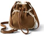 Classic Girls Faux Shearling Bag-Navy/Eggshell