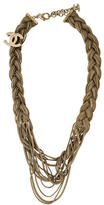Chanel Braided Multistrand Necklace