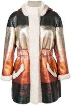 Fendi dégradé overcoat - women - Lamb Skin/Sheep Skin/Shearling - 40