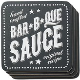 Now Designs Cork Backed Coasters, BBQ Sauce, Set of 4