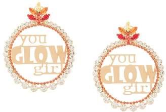 Anton Heunis slogan hoop earrings