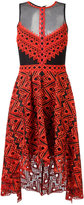 Jonathan Simkhai sheer panel asymmetric dress - women - Silk/Polyester/Spandex/Elastane - 8