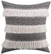 Cupcakes And Cashmere Folk Floral Embroidered Accent Pillow