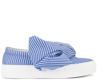 Joshua Sanders bow wide stripe sneakers