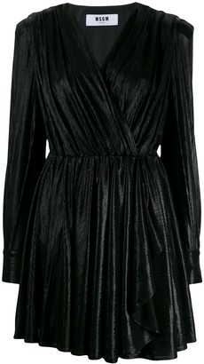 MSGM V-neck dress