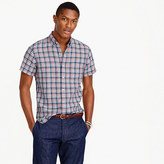 J.Crew Short-sleeve délavé Irish linen shirt in Morton plaid